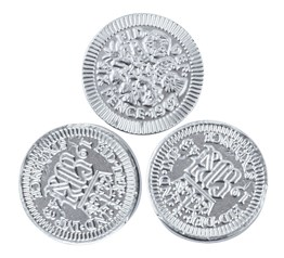 Silver sixpence chocolate coins