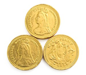Gold halfpenny chocolate coins  Bag of 100