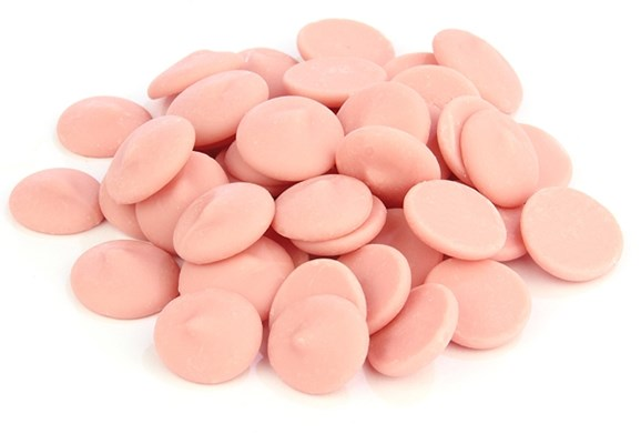 Pink chocolate chips (strawberry flavour)