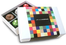 6 personalised chocolate box