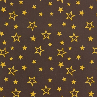 Gold stars chocolate transfer sheet