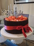 chocolate cigarellos decorated birthday cake